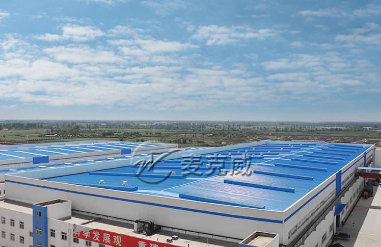 东方汽轮机机械制造业屋顶通风天窗工程