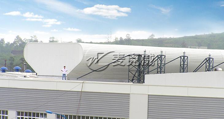 成都发动机集团屋顶通风天窗项目