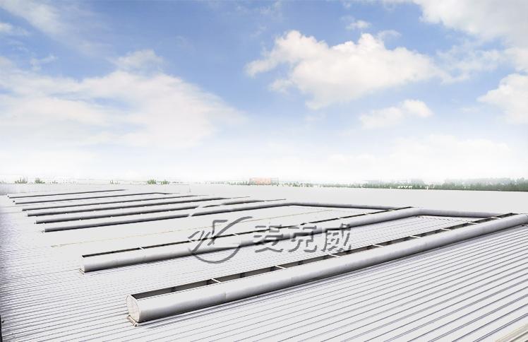 联想西部物流园屋顶通风天窗工程