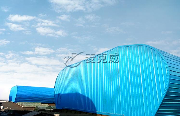 渤海船厂厂房屋顶通风天窗工程