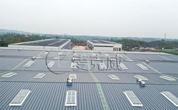 泸州物流园一字型排烟天窗项目