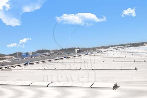 成都天府国际机场国航货运站—四川三角型电动采光排烟天窗
