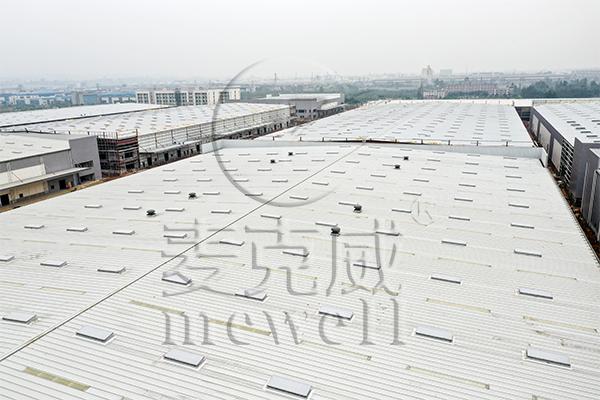 苏宁云商成都B2C自动分拣中心—四川一字型电动采光排烟天窗