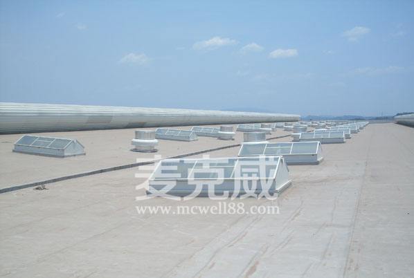 屋脊采光通风天窗在雪铁龙汽车厂房成功应用