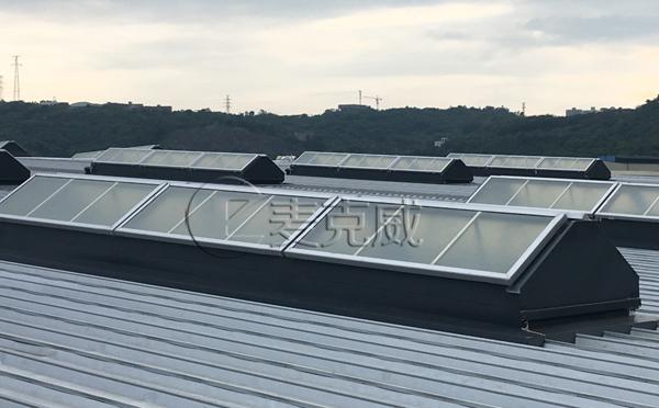 隆鑫航发三角型无钉无胶排烟天窗