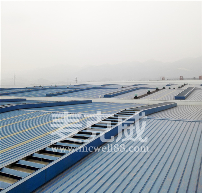 弧线型天窗和薄型天窗特点及通风原理