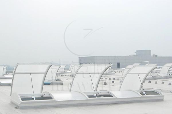 C3ST圆拱型电动采光排烟天窗(上开式)