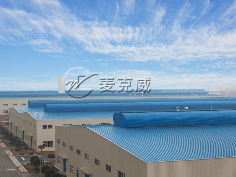 南骏汽车2、3、9厂房MCW-400型屋脊通风天窗设计、制造及安装工程