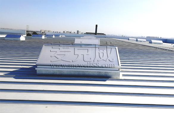 东部环保能源一二三区三角型无钉无胶排烟天窗项目
